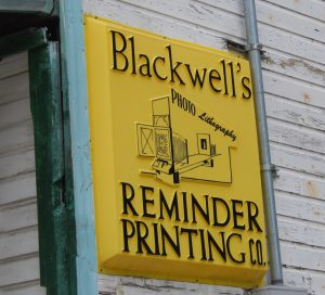 Blackwell's Reminder Printing Company - history